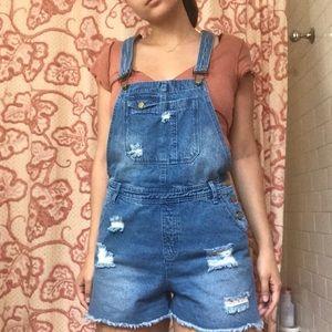 Boohoo short overalls